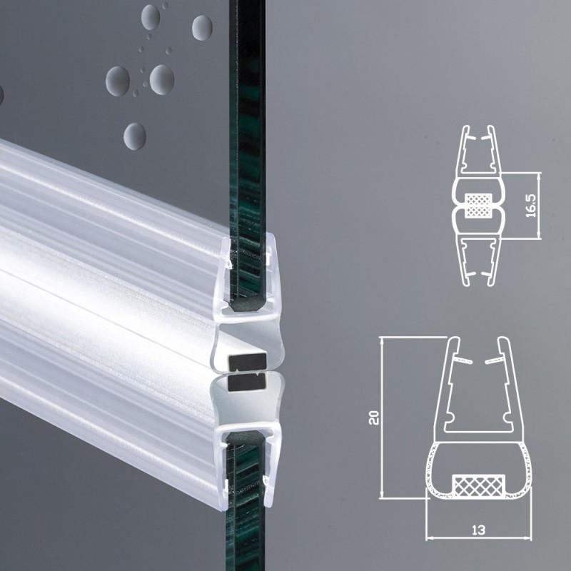 Guarnizione magnetica box doccia profilo vetro 6mm 8mm - Vetri per doccia ...