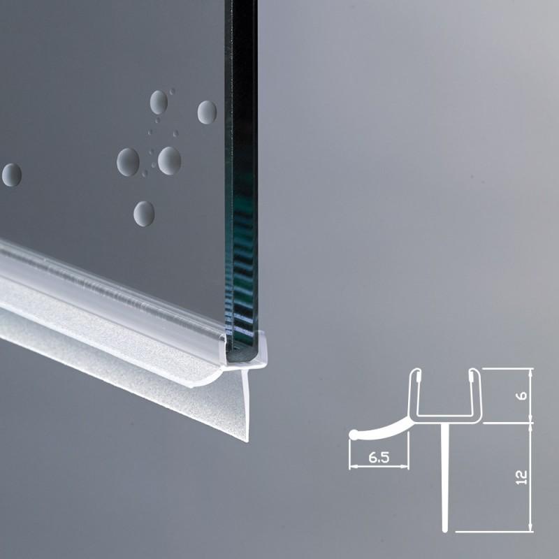 Guarnizione box doccia con gocciolatoio vetro 6mm ec 12 219 for Guarnizioni box doccia