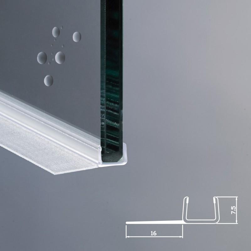 Profilo per box doccia per vetri di spessore da 8 mm ec 16 - Vetri per doccia ...