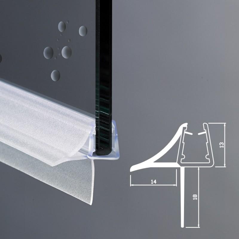 Gocciolatoio per box doccia per vetri di spessore 6 e 8 mm - Vetri per doccia ...