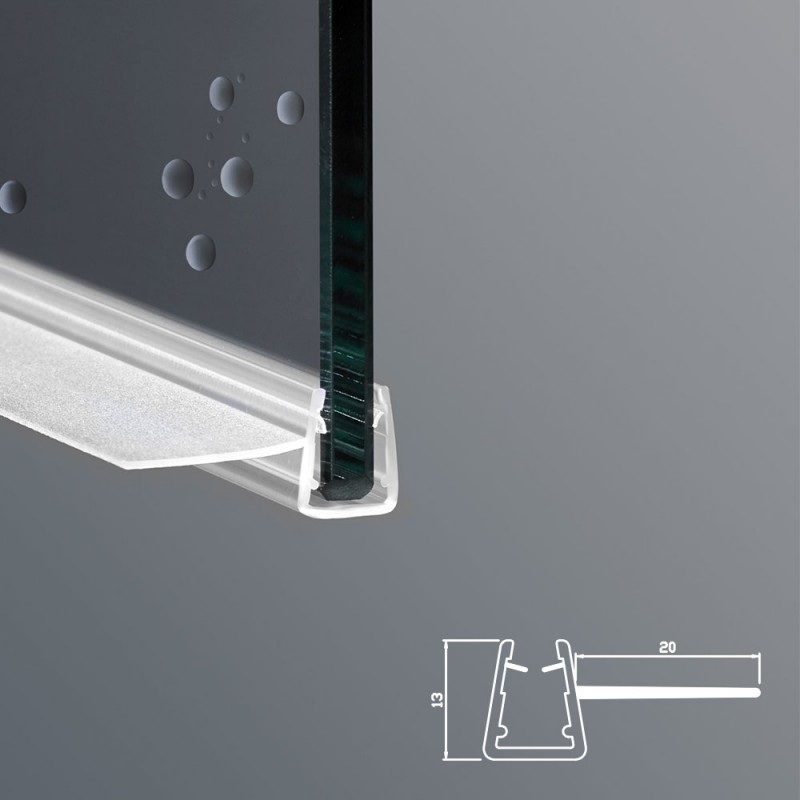 Guarnizione box doccia ricambio verticale vetro 6mm 8mm - Vetri per doccia ...