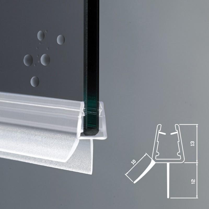 Gocciolatoio per box doccia per vetri di spessore 6 e 8 mm for Guarnizioni box doccia