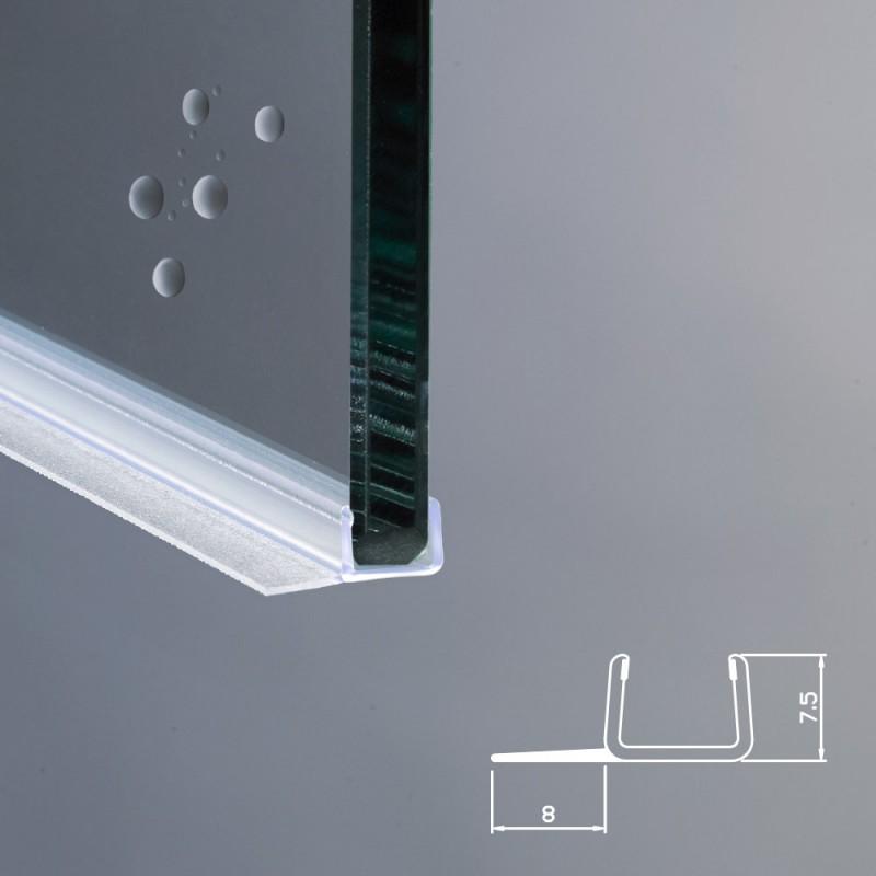 Spessore Cristallo Box Doccia.Guarnizione Box Doccia Ricambio Verticale Vetro 8mm Ec 8 4091