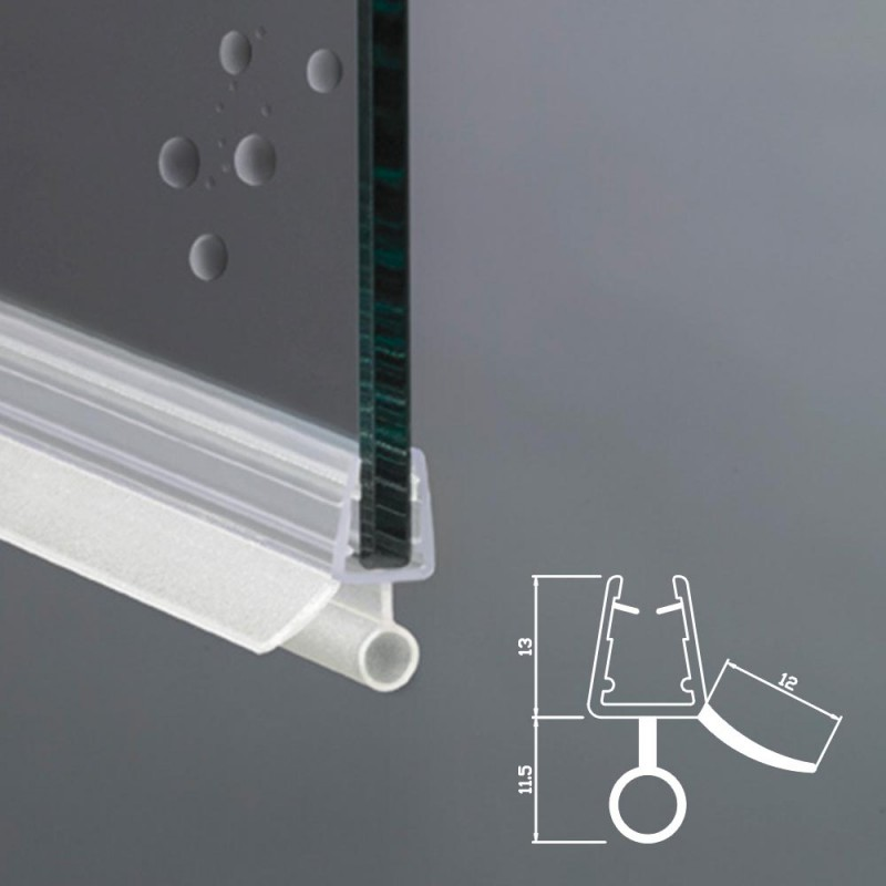 Spessore Cristallo Box Doccia.Guarnizione Box Doccia Con Gocciolatoio Vetro 6mm 8mm Ec 834