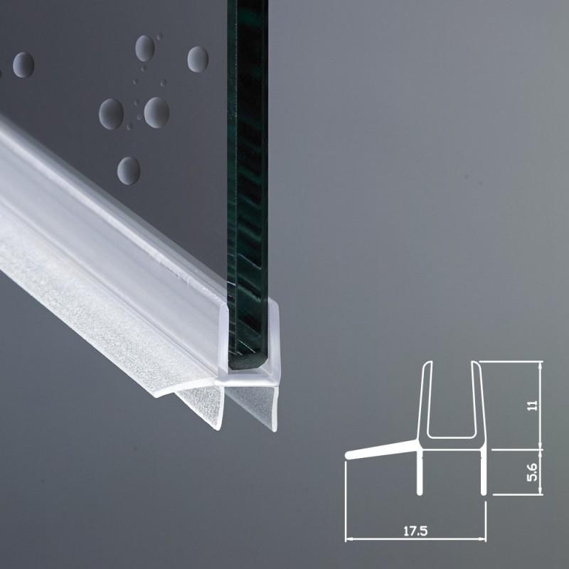 Gocciolatoio per box doccia per vetri di spessore da 6 mm - Vetri per doccia ...