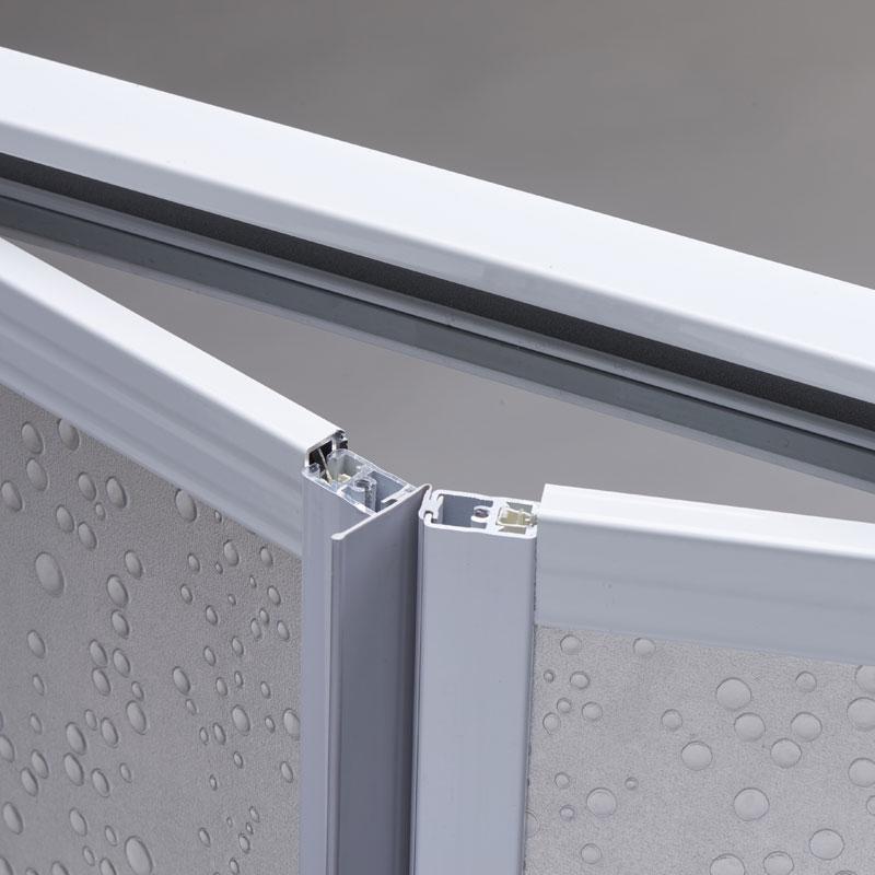 Profilo maniglia per box doccia con porta a soffietto ec - Porta a soffietto per doccia ...